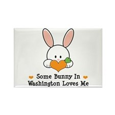 Some Bunny In Washington Rectangle Magnet
