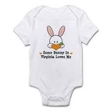 Some Bunny In Virginia Loves Me Infant Bodysuit