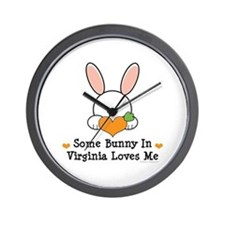 Some Bunny In Virginia Loves Me Wall Clock