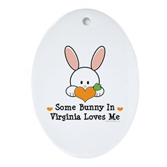 Some Bunny In Virginia Loves Me Ornament (Oval)