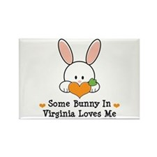 Some Bunny In Virginia Loves Me Rectangle Magnet