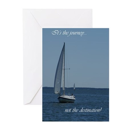 Journey not destination Greeting Cards (Pk of 10)