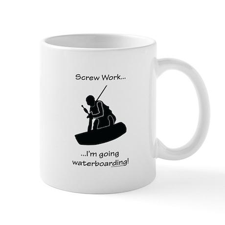 Screw Work-I'm Going Wakeboarding Mug