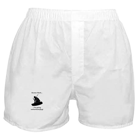 Screw Work-I'm Going Wakeboarding Boxer Shorts