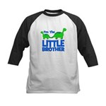 I'm The LITTLE Brother! Dinos Kids Baseball Jersey