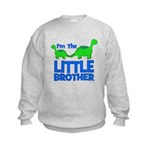 I'm The LITTLE Brother! Dinos Kids Sweatshirt