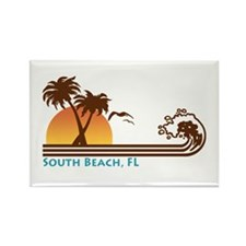 South Beach Fl Rectangle Magnet