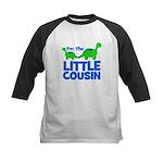 I'm The LITTLE Cousin! Dinosa Kids Baseball Jersey