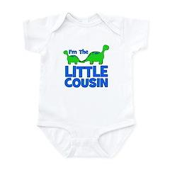 I'm The LITTLE Cousin! Dinosa Infant Bodysuit