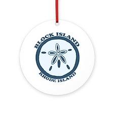 Block Island RI - Sand Dollar Design Ornament (Rou