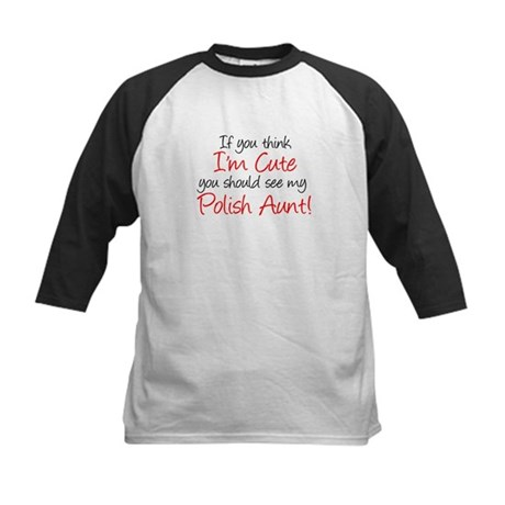 Cute Polish Aunt (Handwritten Kids Baseball Jersey