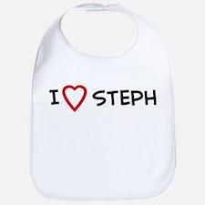 I Love STEPH Bib