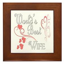 Best Wife (Pink Hearts) Framed Tile