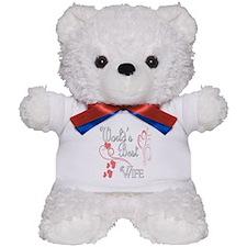 Best Wife (Pink Hearts) Teddy Bear