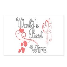 Best Wife (Pink Hearts) Postcards (Package of 8)