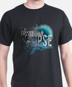Twilight Ecllipse Blue Grunge T-Shirt