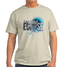 Twilight Ecllipse Blue Grunge T-Shirt