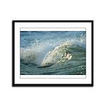 Wave Framed Panel Print