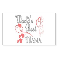 Best Nana (Pink Hearts) Decal