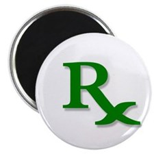 "Pharmacy Rx Symbol 2.25"" Magnet (100 pack)"