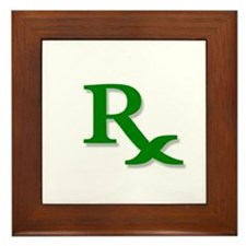 Pharmacy Rx Symbol Framed Tile
