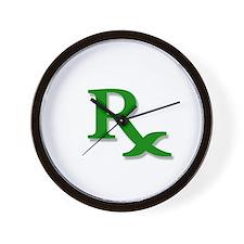 Pharmacy Rx Symbol Wall Clock