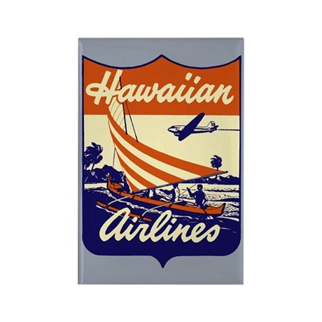 Retro Hawaiian Air Rectangle Magnet