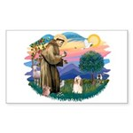 St Francis #2/ Havanese #1 Sticker (Rectangle 10 p