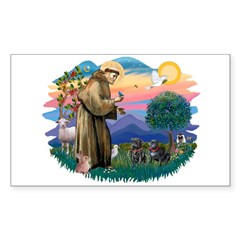 St Francis #2/ Pugs (2 black) Decal
