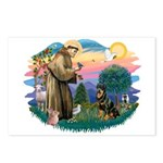St Francis #2 / Rottweiler Postcards (Package of 8