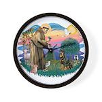 St Francis #2 / Rottweiler Wall Clock