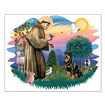 St Francis #2 / Rottweiler Small Poster