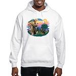 St Francis #2 / Rottweiler Hooded Sweatshirt
