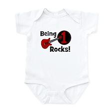 Being 1 Rocks! Guitar Infant Bodysuit