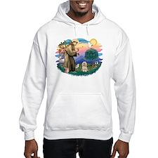 St Francis #2/ Lhasa Apso #9 Hoodie Sweatshirt