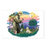 St Francis #2 / Lhasa Apso (R) Postcards (Package