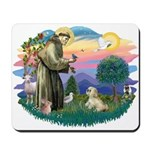 St Francis #2 / Lhasa Apso (R) Mousepad