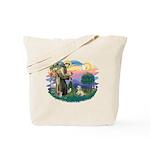 St Francis #2 / Lhasa Apso (R) Tote Bag