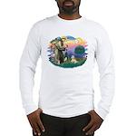 St Francis #2 / Lhasa Apso (R) Long Sleeve T-Shirt