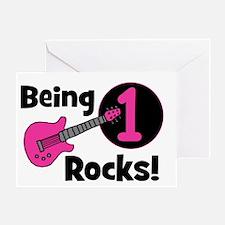 Being 1 Rocks! Guitar Greeting Card