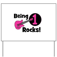 Being 1 Rocks! Guitar Yard Sign