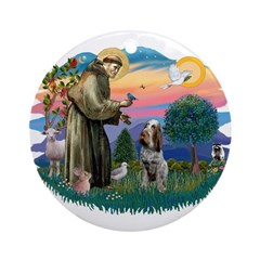 St Francis #2/ Spinone Ornament (Round)