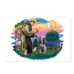 St Francis #2/ Spinone Postcards (Package of 8)
