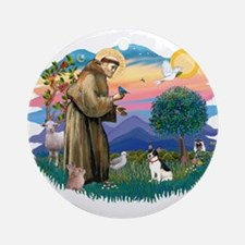 St. Francis #2 / Rat Terrier Ornament (Round)