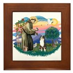 St Francis #2/ Aus Shep (tri) Framed Tile