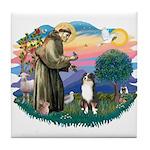 St Francis #2/ Aus Shep (tri) Tile Coaster