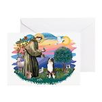 St Francis #2/ Aus Shep (tri) Greeting Cards (Pk o
