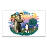St Francis #2/ Aus Shep (tri) Sticker (Rectangle)