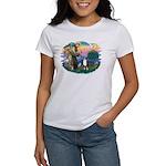 St Francis #2/ Aus Shep (tri) Women's T-Shirt