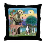 St. Francis / Greater Swiss MD Throw Pillow